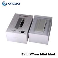 Wholesale Original Joyetech eVic VTwo Mini Mod Evic VTwo Mini TC W Temp Control Mod Updated firmware Vaporizer Mod VS Smok H Priv Wismec RX75