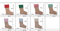 Wholesale 2016 new popular socks bags Santa Claus bag of Christmas decorations bags styles Canvas Christmas stocking gift bags
