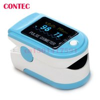 add display - ADD FREE RUBBER SKY blue New Design CMS50D Home Use Black Fingertip Pulse Oximeter With Color OLED Display Test Monitor adult