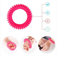 american coil - 2016 New Hot Brand Natural Plant Oils Phone Strap Elastic Mosquito Repellent Hand Ring Coil Mosquito Repellent Bracelet