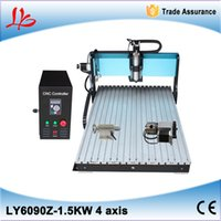 Wholesale Russia no tax Best high speed axis d cnc router wood for wooden stone glass metal carving with limit switch