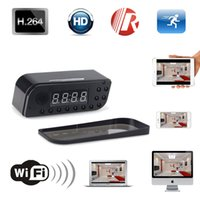 Wholesale 10pcs P Wifi Network Hidden Camera Clock Motion Activated Video Recorder Support APP Remote View Degree Wide View Angle