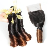 Cheap Malaysian Hair ombre hair with closure Best funmi hair $90-$210 ombre funmi hair with closure
