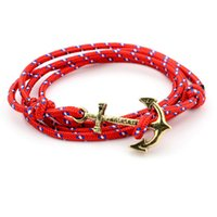 anchor hooks - 2016 New Fashion Anchor Bracelets For Men Women Infinity Bracelet Wrap Rope Charm Fish Hook With Paracord