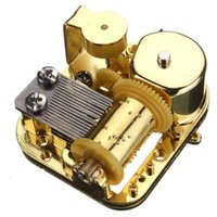 Wholesale New Hot Sale Unique Notes DIY Mechanical Musical Box Golden Movement Screws Castle In The Sky Key Great Gift