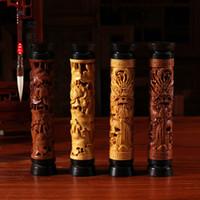 african handicraft - Ebony inlay boxwood African rosewood rosewood handicrafts a vertical relief censer