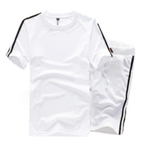 Wholesale 2016 Fashion Brand Summer Mens Sports Suits Short Sleeve Sweatshirts Casual Nice Tracksuit Men O Neck Sweatsuit