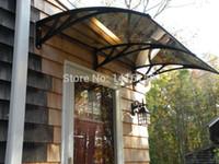 Wholesale DS120240 P x240cm Front Door Canopy Plastic Bracket Door Canopies Home Door Canopy Awning Polycarbonate Door Canopy