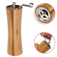 Wholesale 2016 Hot Sale Vintage Wooden Salt corn Spice Sauce orn Grinder Muller Shaker Pepper Mill Grinder Kitchen Tool New
