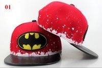 batman hats for sale - New Arrival DC Comics kids Snapback hat hot sale plain Batman cap Adjustable hat for children free size youth cap QH