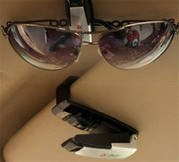 automotive glass - Auto Fastener ABS Car Vehicle Sun Visor Sunglasses Eyeglasses Glasses Holder Card Ticket Pen Clip Automotive Accessories