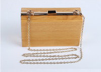 Wholesale New Handmade Wooden Clutch Vintage Bag Clutch Evening Party Bag Rustic Wedding Bag Wedding Gift Wood Bag Unique Clutch Shoulder Bag