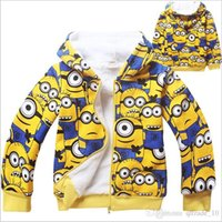 achat en gros de mcqueen veste enfant-2015 2 couleurs enfants mcqueen voiture minnions bas manteau hiver coton rembourré vêtements veste outwear hoodies Sweatshirts pulls pull TOPB3359 50