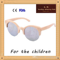 american made sunglasses - and Custom made American children color film children sunglasses with bamboo half frame glasses B2012