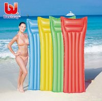 Wholesale PVC Air Mattress Inflatable Floating Pool Buoy Swimming Water Kickboard Boat Adults Pontoon Board Floats Bed Beach Mat