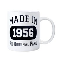 Wholesale 60th Birthday Gift Made th Birthday Party Decorations Gift Coffee Mug Tea oz Cup White