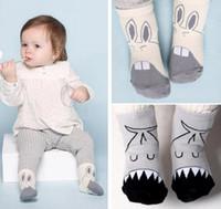 Nuevos niños infantiles de dibujos animados de boca grande de algodón calcetines niños de las niñas de algodón lindo calcetines de bebé antideslizante calcetines de pie calientes de animales