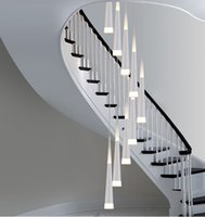 bar height dining - 1 M long Led stair lighting bar Cone spiral pendant lamp lights for Extra height stairwell Library studio led strip lighting Luminaire