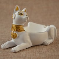 accessories cats home - portable size egypt cat ashtray resin craft animal car interiors home decoration accessories cigarette ash holder gift