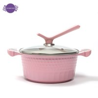 Wholesale flat bottomed soup pot thickening cm with induction cooker colorful body inside with ceramic coating