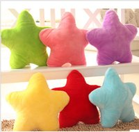 big love video - 2016 new Plush toys special candy color pentagram love heart hold pillow type heart shaped cushion for leaning on wedding press doll