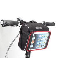 basket for folding bike - ROSWHEEL New Arrival Cycling Bicycle Folding Bike Front Handlebar Bag Basket Transparent PVC Pouch for quot quot Tablet PC