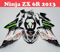 Wholesale 7 Gifts Fairing Kits FOR Kawasaki Ninja ZX6R ZX R ZX R ABS Injection Mold Racing Bike Bodyworks Cowling