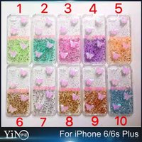 air butterfly - Air Cushion Drop Resistance Colors Colourful Butterfly Glue Soft TPU Transparent Case Cover For iPhone s Plus