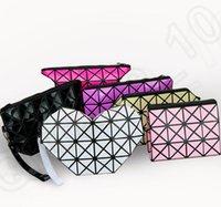 Wholesale 9 color LJJK311 Fashion Women s Diamond Shape Simple Folding Stripe Handbags BAOBAO Bag Geometry Package Folding clutch bags