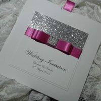Wholesale Pocket Style Glitter Wedding Invitation Cards CA034