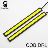 Wholesale New update Ultra Bright LED Daytime Running lights DC V cm Waterproof Auto Car DRL COB Driving Fog lamp