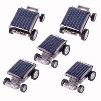 achat en gros de gadgets gifts-LJJG347 solaire voiture jouet éducatif Gadget enfants cadeau Mini solaire voiture jouet pour les enfants de puissance incroyable