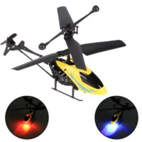 Wholesale Yellow Shatter Resistant Radio Remote Control Aircraft CH I R Quadcopter RC Helicopter Kids Gifts Cheap helicopter tail