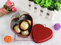 Wholesale Colorful Heart Shape Tin Box Tea Candy Chocolate Jewelry Storage Box Christmas Gift Container Case