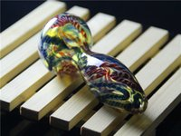 art glass imports - Imported pigment Color bulk glass pipe Manual blow sent mesh production arts and crafts