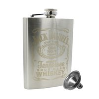 Wholesale 7 OZ Stainless Steel Hip Kidney Flask Frosted Jack Daniels Simple Whiskey Bottle Color Silver Portable Drinkware