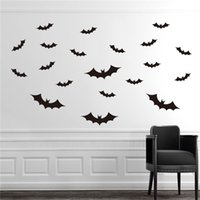 bats live - Cute Funny D Halloween Bat Wall Stickers Bat Decors Art Decorations Party Home Decor Wall Decor Colors
