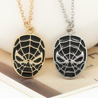 amazing link - 2016 Ship Superhero Spider man The Amazing Spiderman Mask Pendant Necklace Fashion Necklace for Men and Retail ZJ