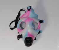 Cheap High Quality Glow in dark mixed colored Silicon Mask Bong Gas Mask For Water Pipe MASK ONLY For Hookah Pipe Vaporizer Filter Smoking Pipe