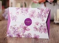 Wholesale Only think beautiful flowers personality wedding invitations creative custom wedding invitations invitation wedding invitation card