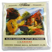 Wholesale 1 Sets Alice A106 H High Tension Clear Alloy Nylon Classical Guitar Strings High quality