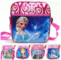 Wholesale Anna and Elsa cartoon Bags School Bags For Girls Kids Children Christmas Gift Birthday Gift School Backpacks Children s Bags B275