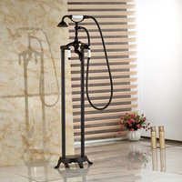 bath shower freestanding - Oil Rubbed Bronze Bath Clawfoot Freestanding Tub Shower Filler Faucet Dual Handle with Handshower