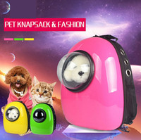 Wholesale 8 colors puppy dog cat Space Capsule Shaped Breathable Backpack pet Cat Carrier backpack pet dog Outdoor Travel portable Package cat bags