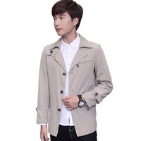 Wholesale Fall Trench Coat Men Classic Men s Single Breasted Trench Coat Masculino Mens Clothing Long Jackets amp Coats Korean Style Overcoat