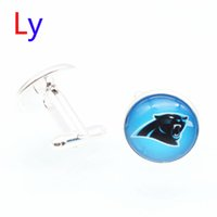 Wholesale Fashion super bowl Cufflink Carolina football Cufflinks Fathers Day Gifts For panthers Mens Jewelry Cuff Links YD0066