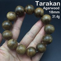 absolute collection - 18mm g high quality Authentic Tarakan Aloeswood bead bracelet absolute most worthy investment collection fashion decoration