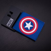 animations bag holders - Comics DC Marvel Popular Animation Wallet for Men Captain America PU Leather Gift Wallets Casual Purse PVC Bags Dollar Price Creative Gift