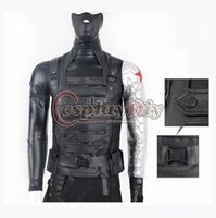 Wholesale Custom Made Movie Captain America The Winter Soldier James Buchanan Barnes Bucky Outfit Adult Cosplay Costume