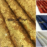 Wholesale mm Sequins Gold Sequin Fabric For Dress Making Garment Decoration Sequin Material Fabrics